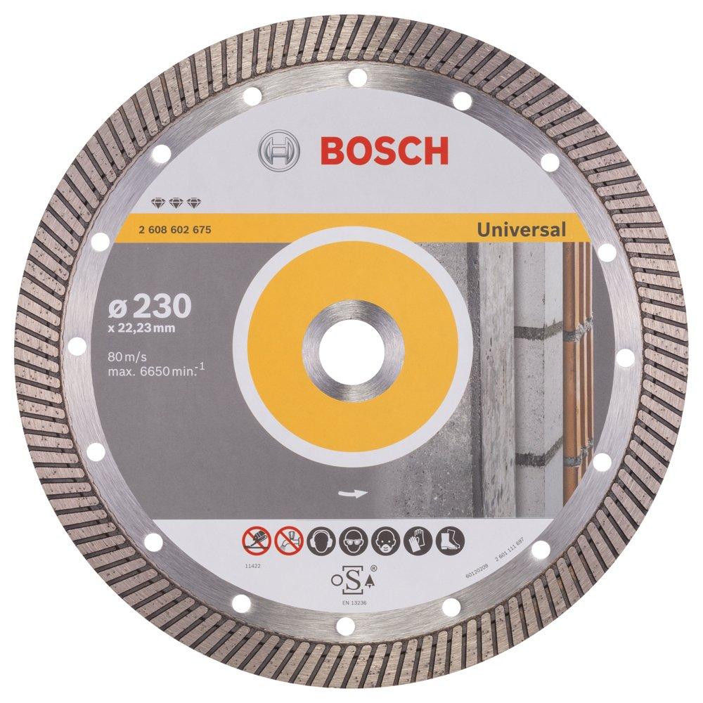 Bosch 2608602675 Disque à tronçonner diamanté best for universal turbo 230 x 22, 23 x 2, 5 x 15 mm