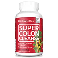 Health Plus Super Colon Cleanse: 10-Day Cleanse -Detox | 3 Cleanses, 120 Count (...