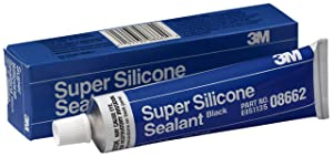 3M Black Super Silicone Seal, 08662, 3 oz tube