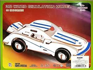 Wooden Puzzle 21x17 cm 3D Car