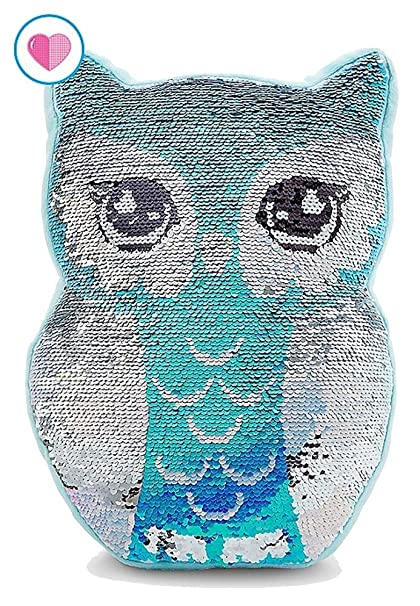 Amazon.com: Justice Flip Sequin Pillow Owl: Home & Kitchen