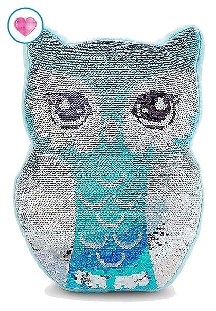 Amazon.com: Justice Flip Sequin Pillow Owl: Home & Kitchen