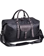 Oversized Duffle Travel Bag Waterproof PU Leather Weekend Bag Large Carry On Large Carry On Hangbag for Mens or Women
