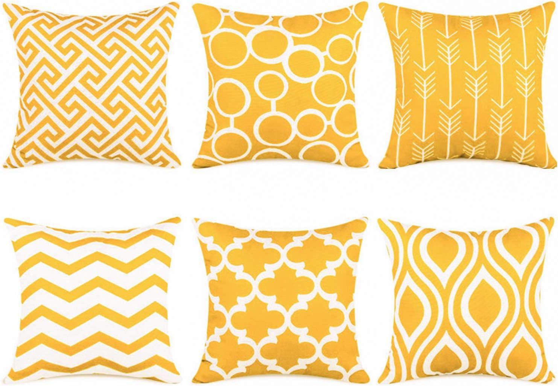 E by design Zipped Geometric Print Pillow 20 x 20 Navy Blue