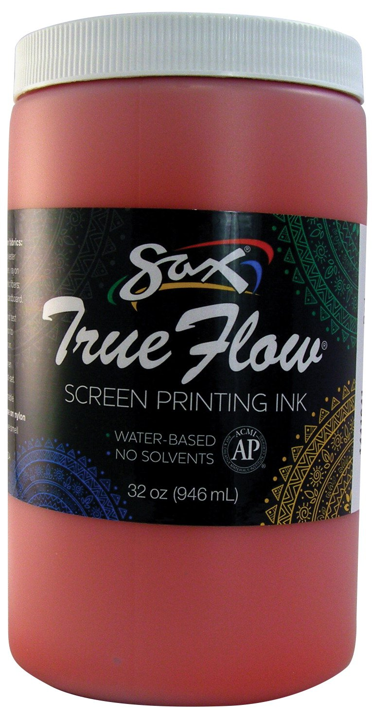 Sax 1441641 True Flow Non-Flammable Screen Printing Ink, 1-Quart, Red