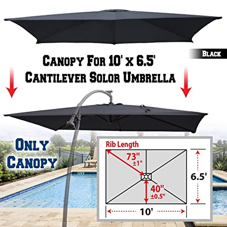 BenefitUSA Replacement Canopy Cover for 10u0027 X 6.5u0027 Cantilever Patio Umbrella Offest Parasol Top  sc 1 st  Amazon.com & Amazon.com : BenefitUSA Replacement Canopy Cover for 10u0027 X 6.5 ...