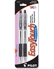 Pilot EasyTouch Retractable Ball Point Pens, Fine Point, 2-Pack, Black Ink -32250