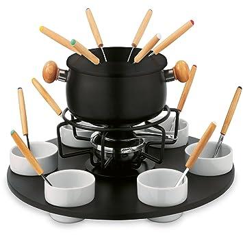 Set fondue para chocolate Queso de acero 24 piezas Fondue Max: Amazon.es: Hogar