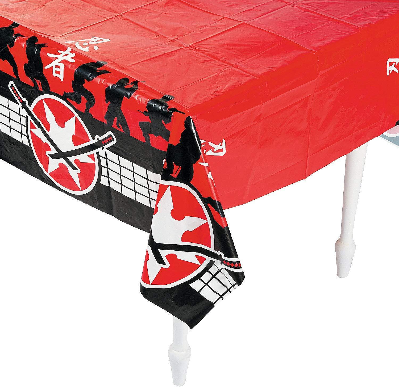 Fun Express 13678368 54 X 108 in. Plastic Ninja Warrior Tablecloth