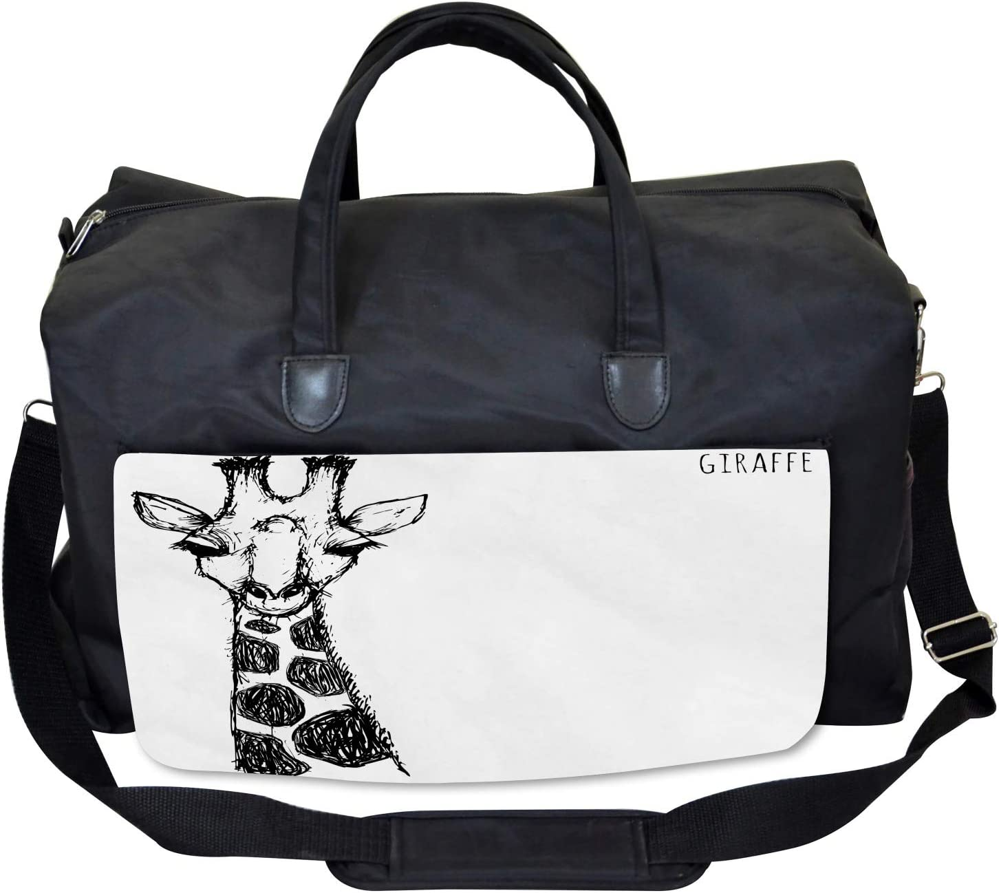 Large Weekender Carry-on Ambesonne African Gym Bag Safari Giraffe