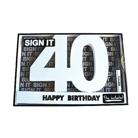 Amazon Happy 40th Birthday Wooden Signature Number Landmark