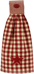 Home Collection by Raghu Heritage Star Barn and Nutmeg Towel, 16.5 X 18.5-Inch, Red