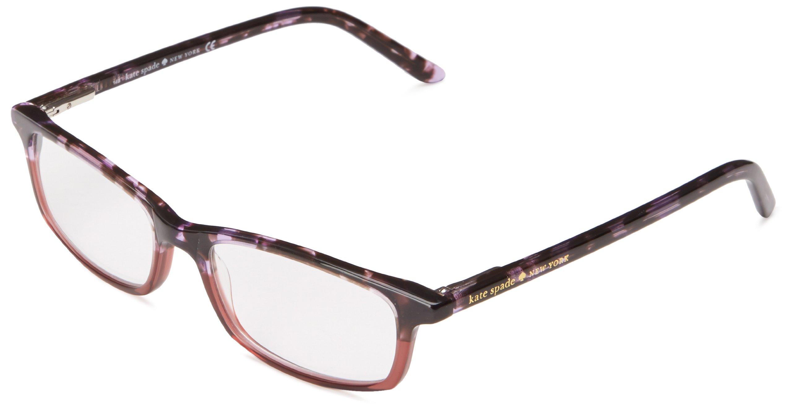 Kate Spade Jodie Rectangular Reading Glasses,Purple Tortoise 15,50 mm