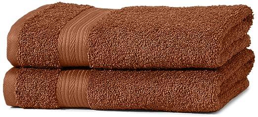 175 opinioni per AmazonBasics- Set di 2 asciugamani che non sbiadiscono, colore Marrone