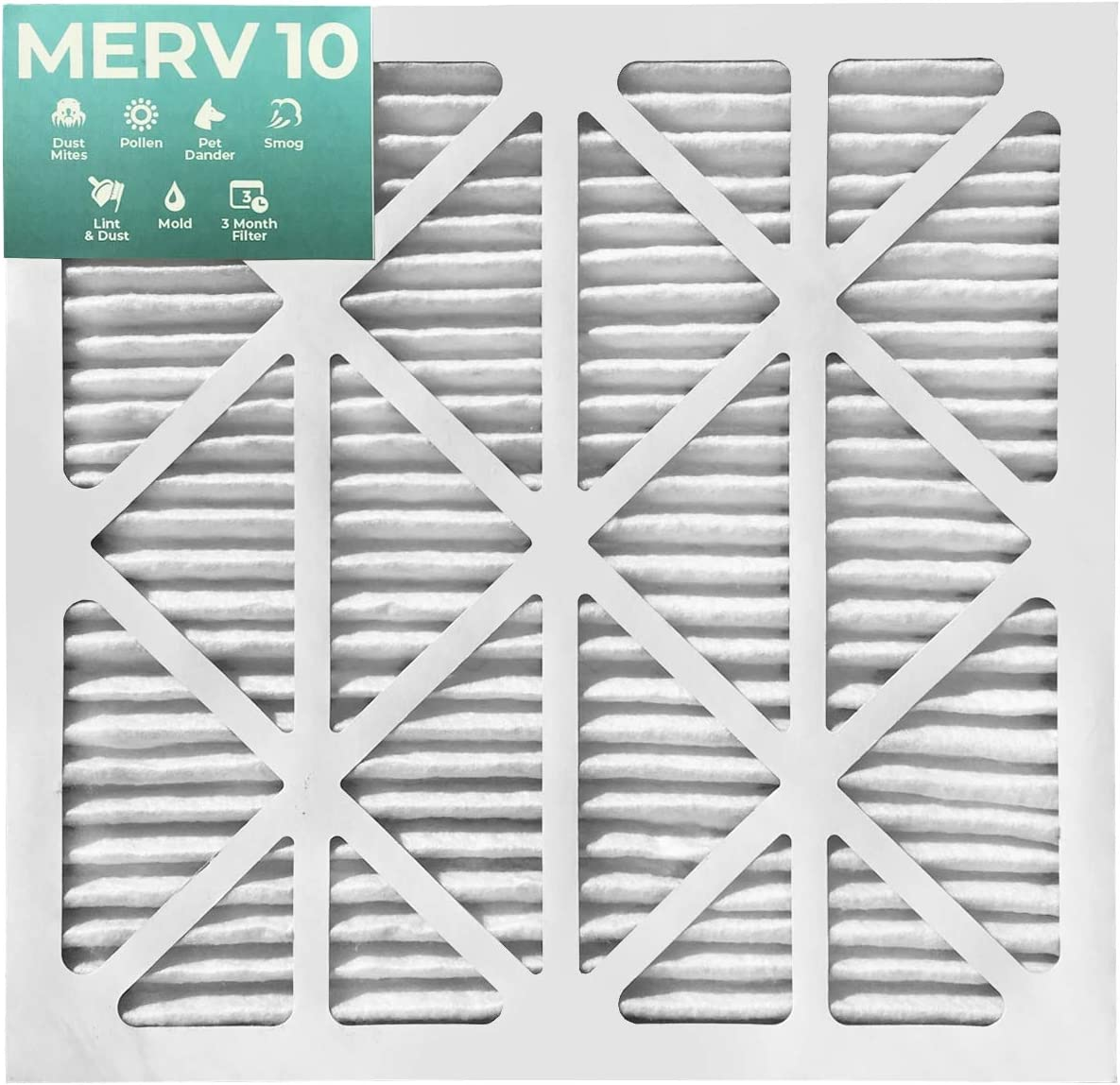 18x25x1 Merv 8 Furnace Filter 12 Pack by Glasfloss Industries