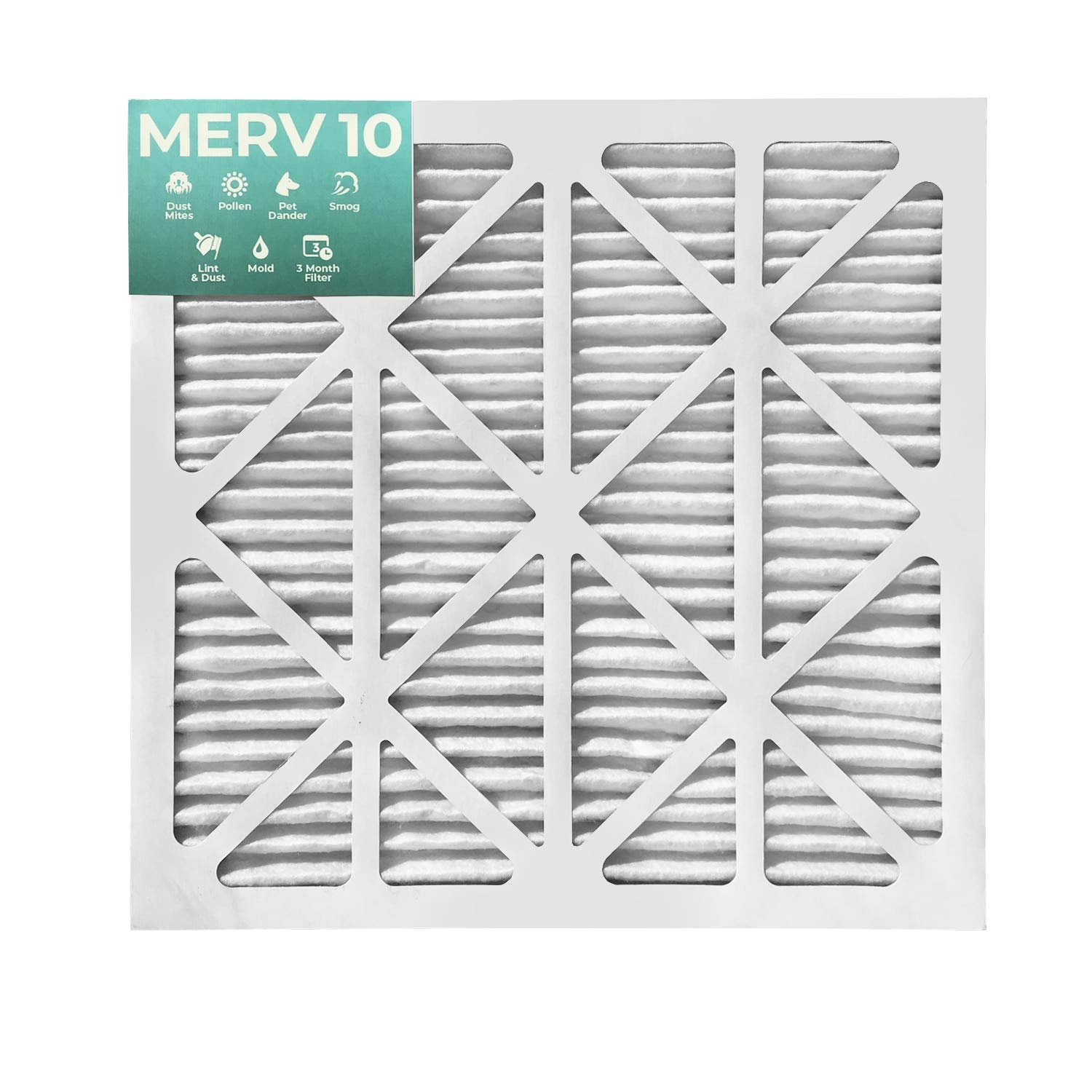 25x25x2 MERV 8 Pleated AC Furnace Air Filters 12 Pack