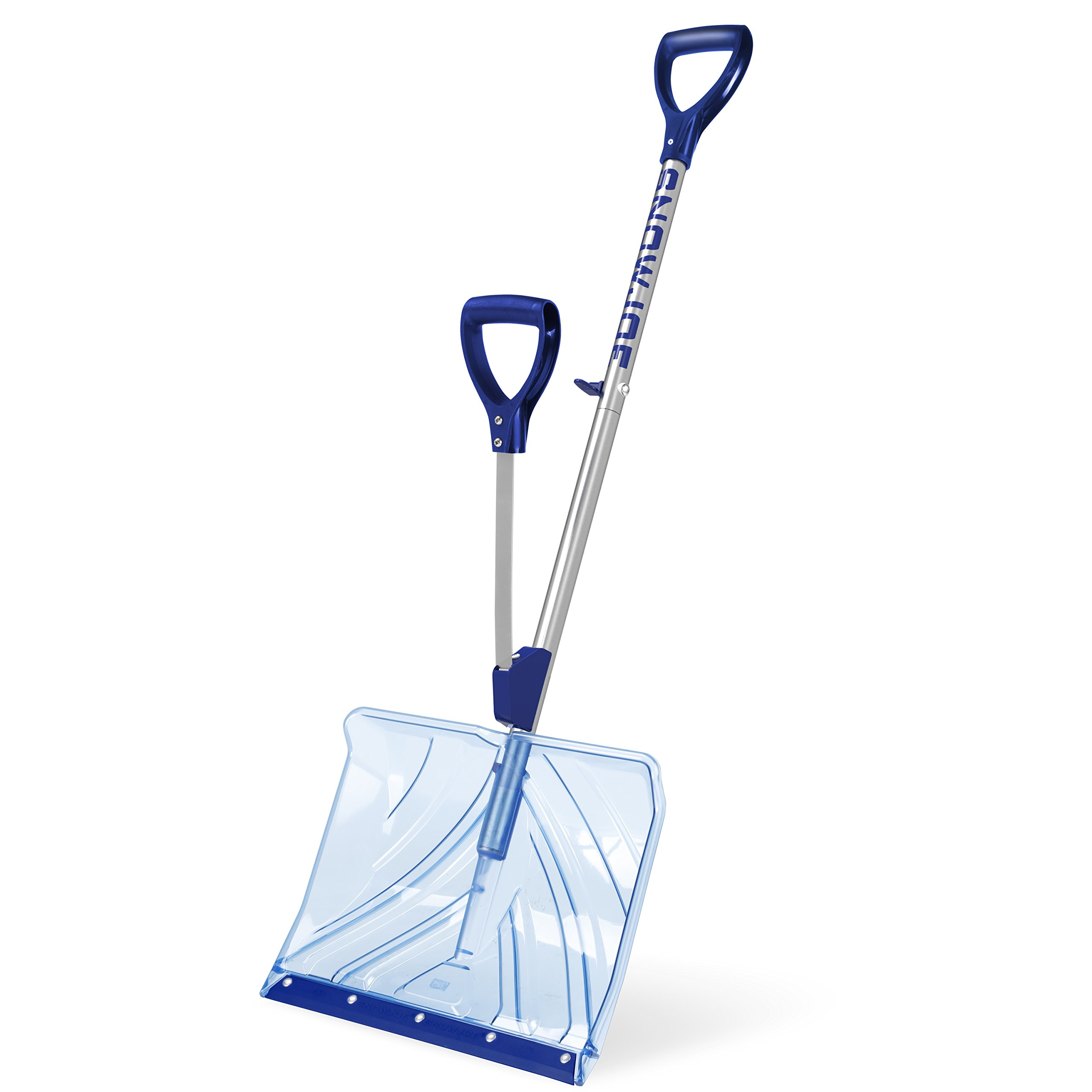Snow Joe Shovelution SJ-SHLV02 18-IN Strain-Reducing Indestructible Shatter Resistant Polycarbonate Snow Shovel w/Spring Assisted Handle by Snow Joe