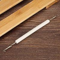 chengong Breimachine dubbele pin breimachine naald, wit met handvat breimachine dubbele naald, 6,5 mm afstand voor LK100…