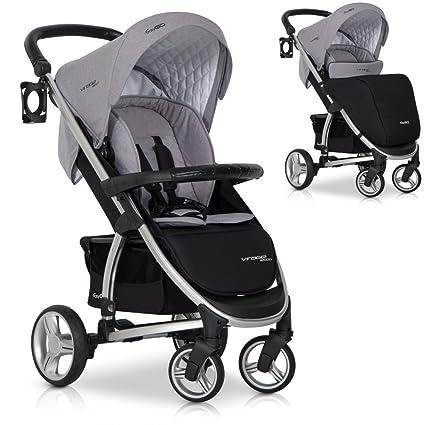 Cochecito Bebé Luxe plegable - 4 ruedas Multi posiciones curvas Ecco ...