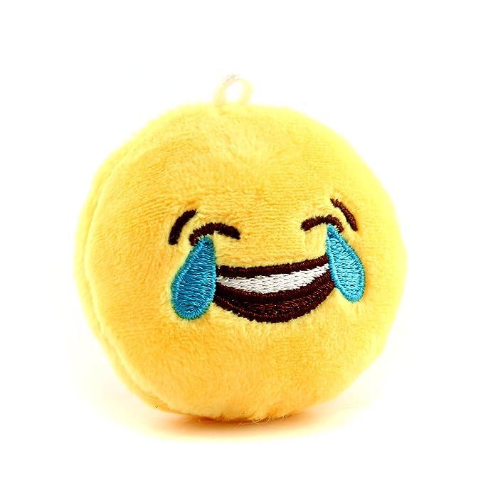 Amazon.com: Pequeño y redondo suave Emoticono Cojín Almohada ...