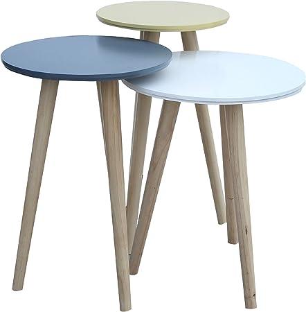 Mobili Rebecca Set 3 Tables Basse Superposables Tables de ...