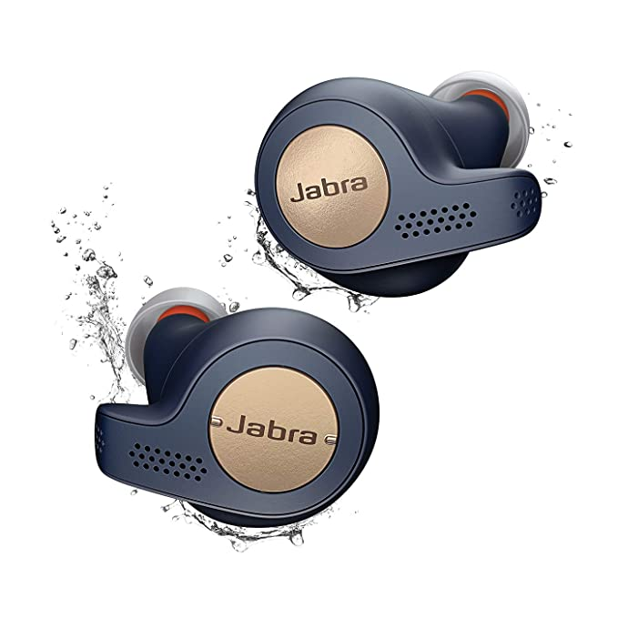 Jabra Elite Active 65t Alexa Enabled True Wireless Sports Earbuds with Charging Case  â?? Copper Blue