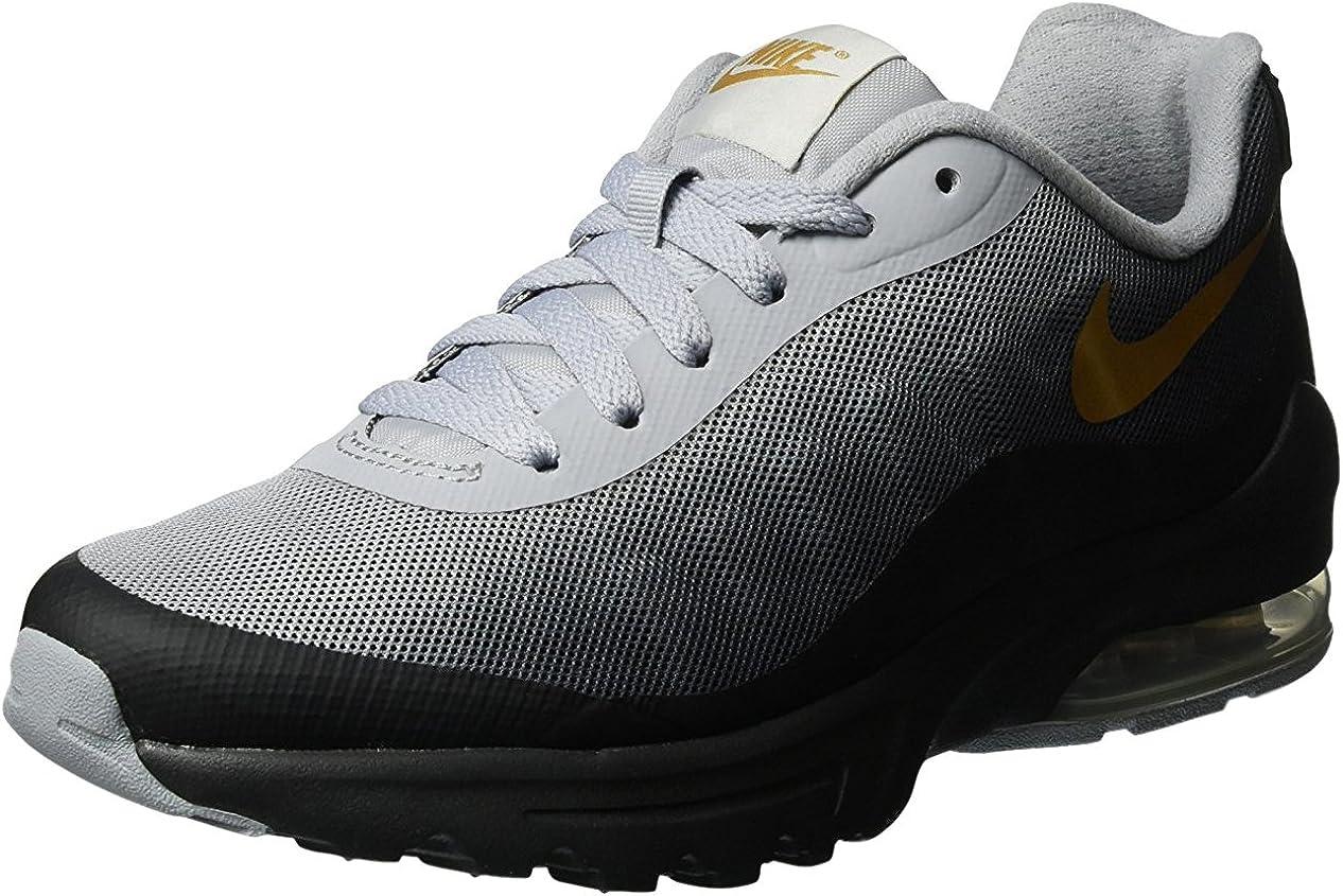 Nike Women s Air Max Invigor Print Running Shoe Black Metallic Gold 6.5
