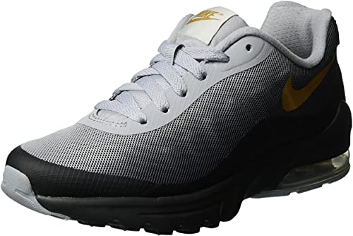 Nike Women's Air Max Invigor Print Running Shoe BlackMetallic Gold 6.5