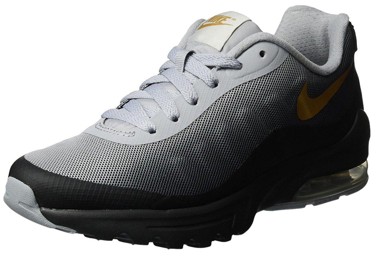 NIKE Women's Air Max Invigor Print Running Shoe B00VF0GJQS 9 M US|Black/Metallic Gold Wolf Grey