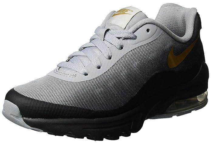 Nike Damen W Air Max Invigor Print Traillaufschuhe, Mehrfarbig (Black/Metallic Gold-Wolf Grey-Cool Grey 070), 41 EU