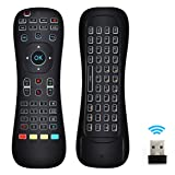 Updated Air Mouse Backlit, LinkStyle 2.4G Wireless Android Kodi Remote Mini Keyboard Infrared Learning Voice Input for Android TV Box XBOX PC Pad Raspberry Pi 3 Android Windows Mac OS Linux