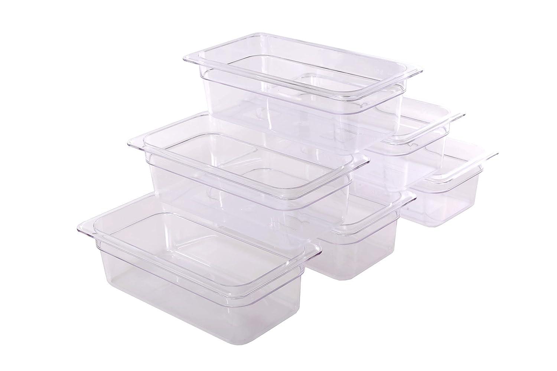 Hakka 1/3 Size Polycarbonate Food Pans,4
