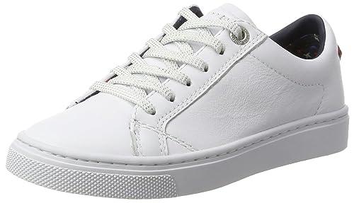Tommy Hilfiger V3285enus Jr 19a1, Zapatillas para Niñas, Blanco (White), 31 EU: Amazon.es: Zapatos y complementos