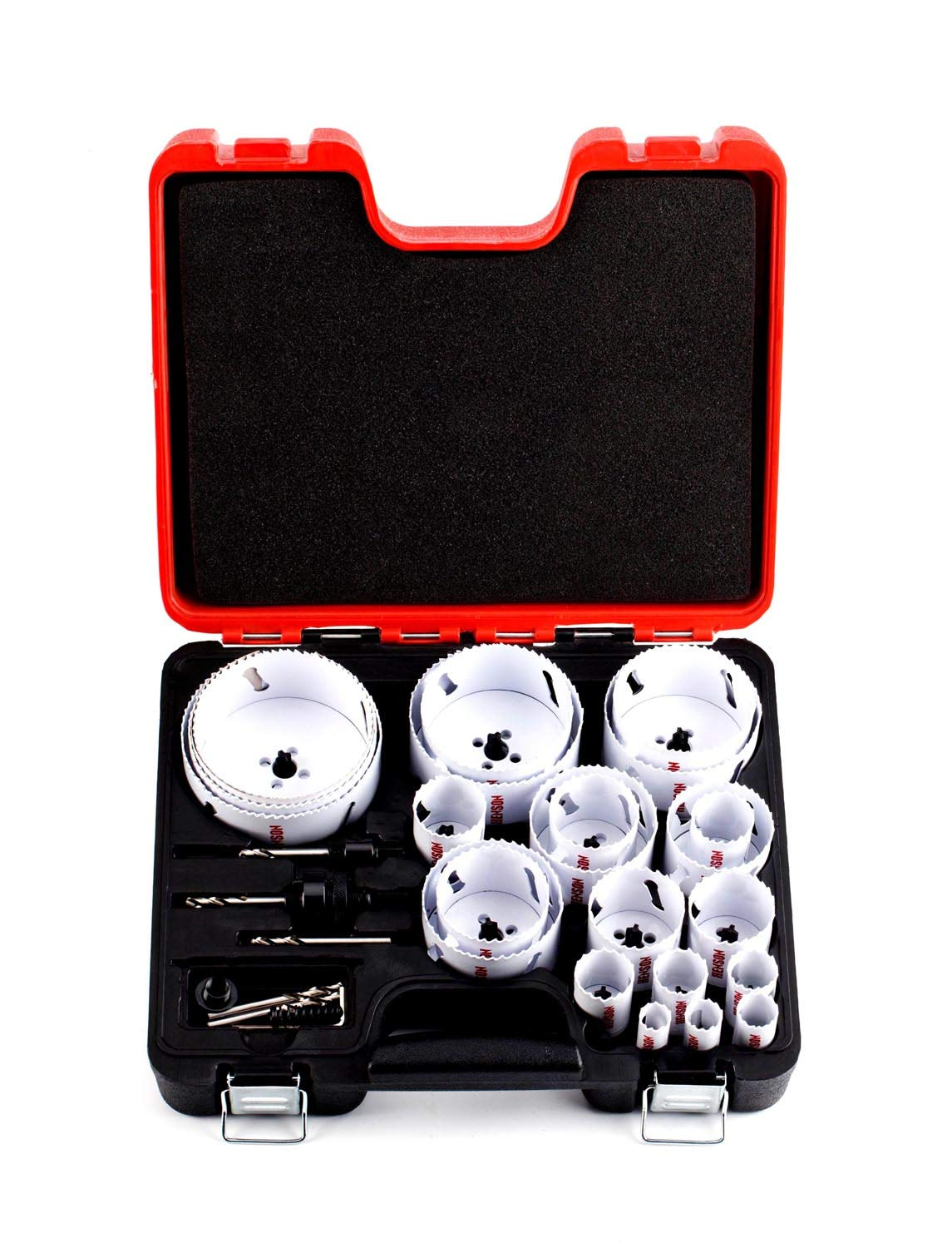 Bi-Metal Hole Saw Kit,30-Piece All Purpose Combination,Sizes Range:3/4'' to 4-3/4'',Increased Cutting Depth Ideal For Wood,Metal,PVC,Aluminum,Steel Tubes,Stainless Steel Sheet By Henson by Henson