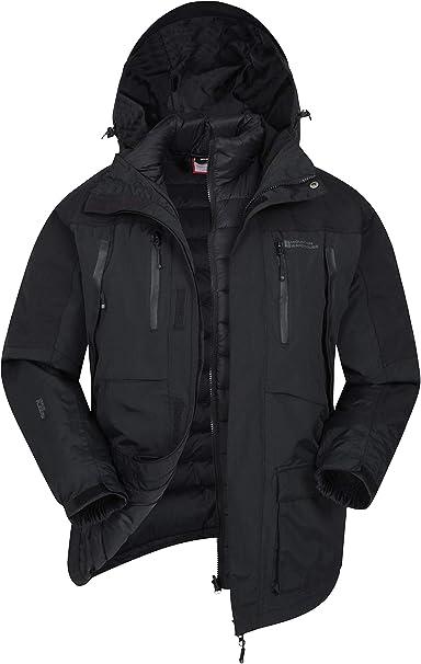 3 In 1 Mens Waterproof Jackets Mountain Warehouse Ridge Long