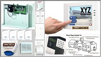 ah9-complete pantalla táctil GSM Autodial con cable sistema de alarma antirrobo con Sensor de