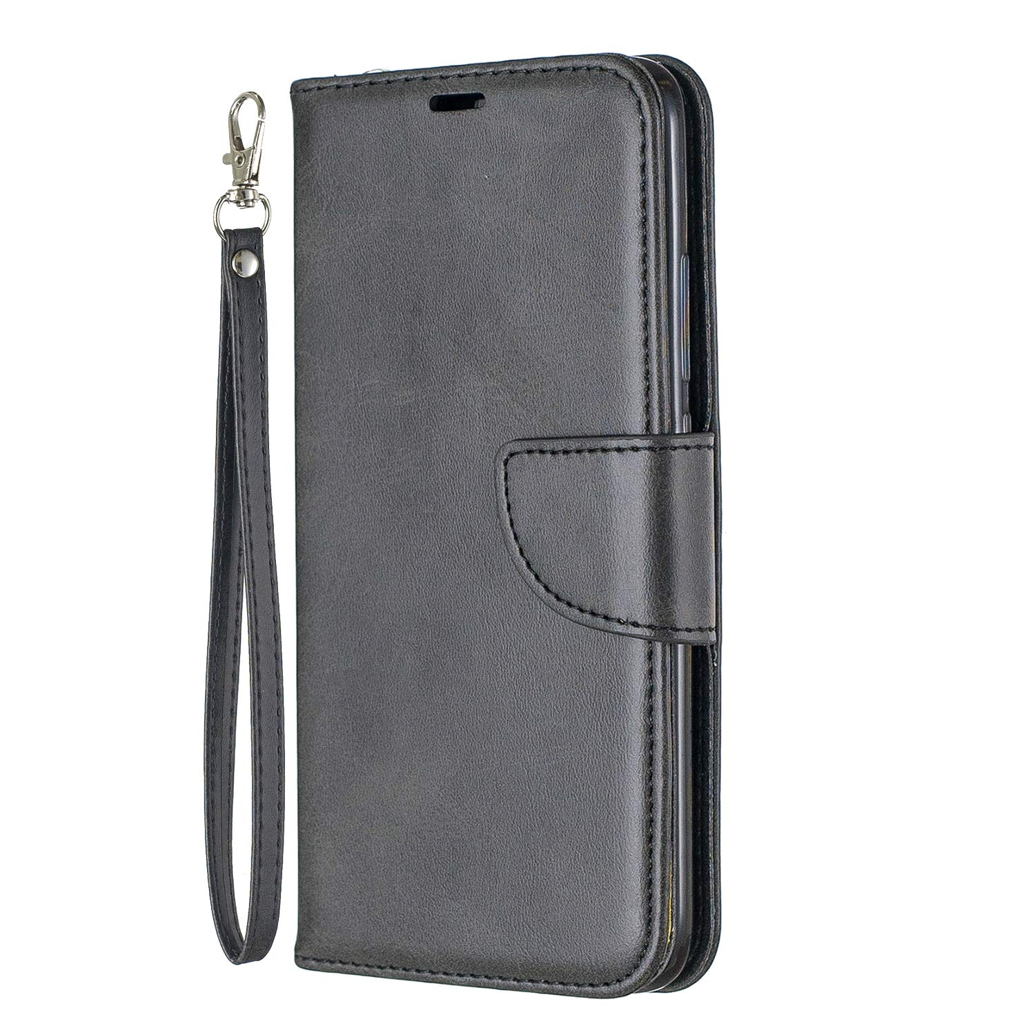 Lomogo Xiaomi Redmi 7 / Y3 Case Leather Wallet Case with Kickstand Card Holder Shockproof Flip Case Cover for Xiaomi Redmi7 / Redmi Y3 - LOBFE150643 Black