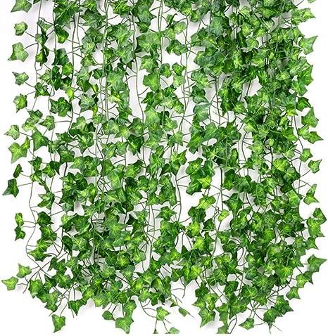 12 x 2,2 Meter Efeu Künstliche Girlande Efeugirlande Efeuranke Kunstpflanze Deko