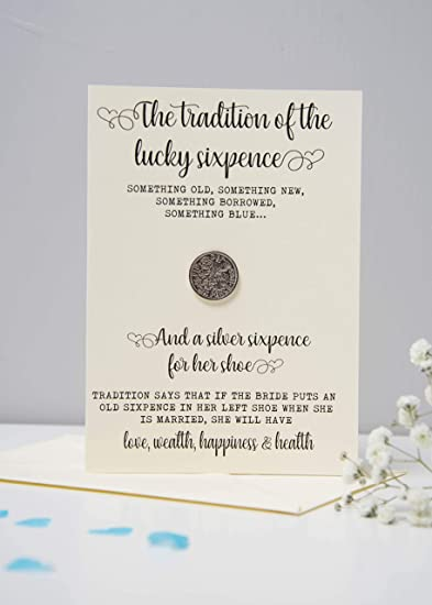 Bride S Sixpence Coin And Card Sixpence Tradition Something Old Something New Something
