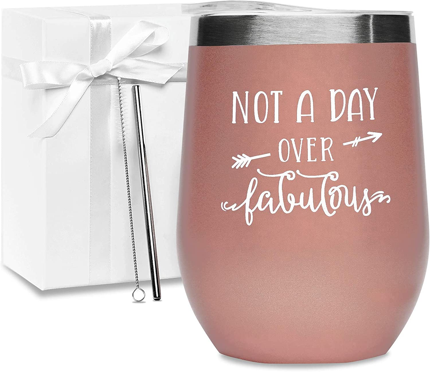 Bath Bomb Wine Gifts for Women 12oz Wine Tumbler with Lid Loofah Wine Tumbler with Saying for Friend Coworker Opener//Stopper Greeting Card Wine Gift Basket Straw Funny Birthday Gift