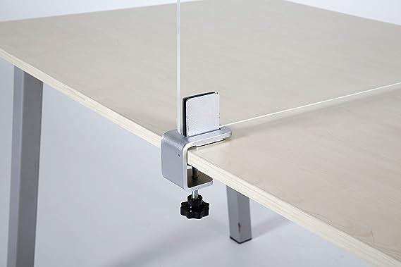 ZYFS Klemmhalter f/ür Plexiglas,Tischklemme Armklemme Klemmbefestigung Acrylglas,Max Tischplatte: 10-50mm Glashalter 2 St.