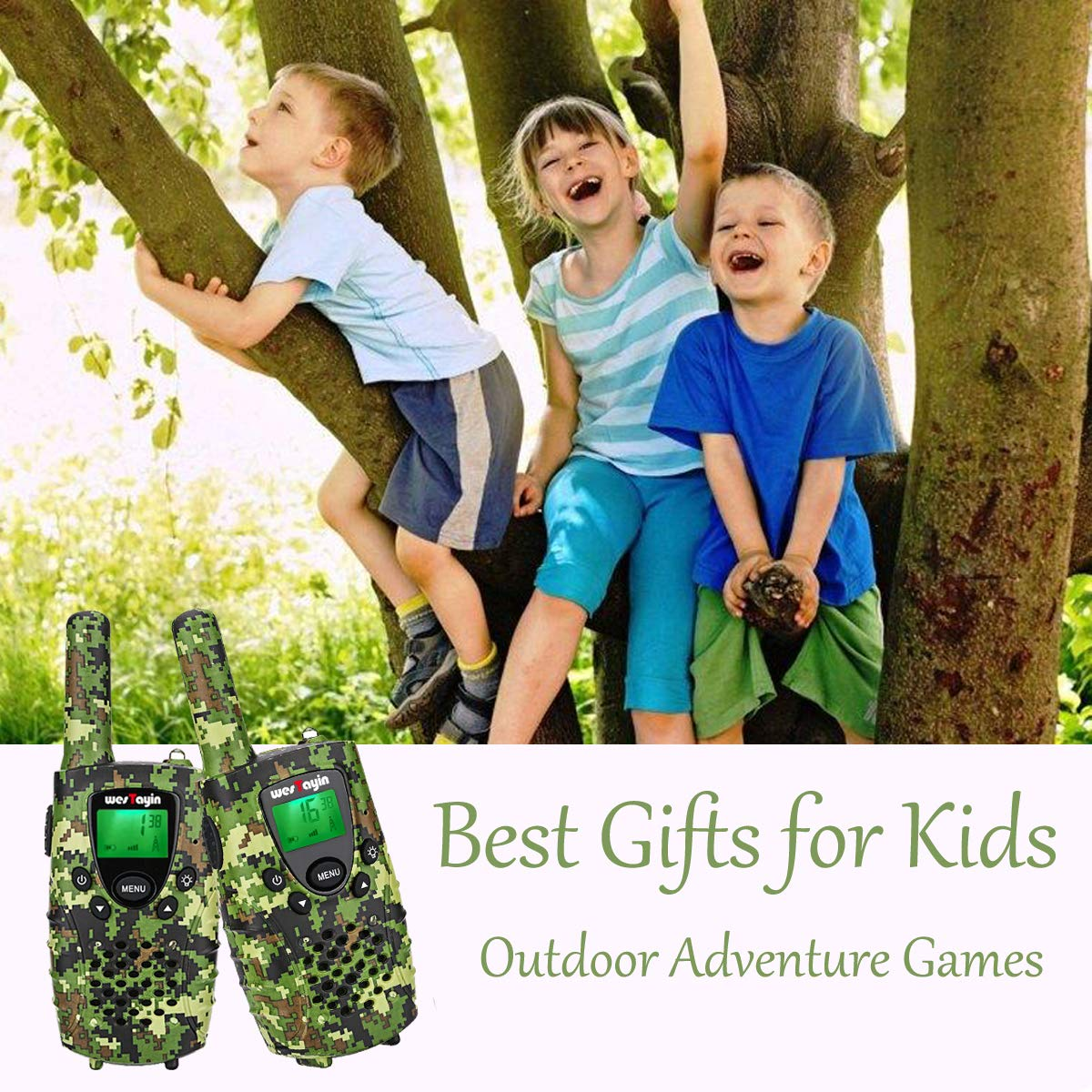 WES TAYIN Rechargeable Walkie Talkies for Kids, 4 Miles Kids Walkie Talkies with VOX Hands Free and LED Flashlight, Power Saving Two Way Radios Toys, Holiday Birthday for Kids by WES TAYIN (Image #6)