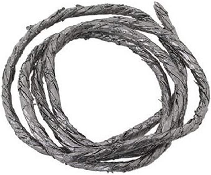 SQINAA Graphite Packing 3.2 Ft Graphitized Expanded Braided Compression Packing for Pump Gland or Valve Stem Mechanical Seal,25mm
