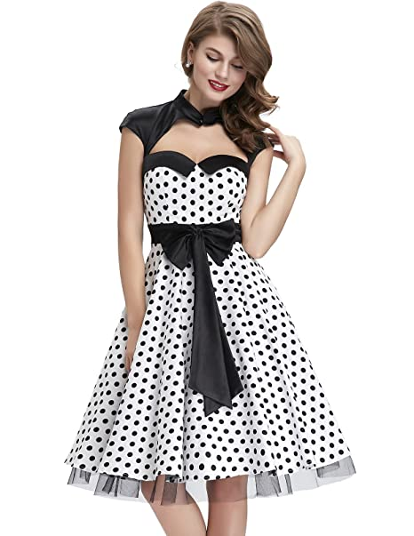 5e8a2ee71ce3 GK Vintage Dress Women s Cocktail Short Sleeve Dress Multicolour  Multicoloured S M L XL - White - Small  Amazon.co.uk  Clothing