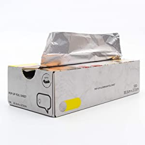 Aluminum Foil Sheets - 500 Pop Up Foil Sheets for Food Measuring 12 X 11 Inches- Tinfoil Wraps for Restaurants, Delis, Catering, Food Trucks, Carts, Take Out Or at Home