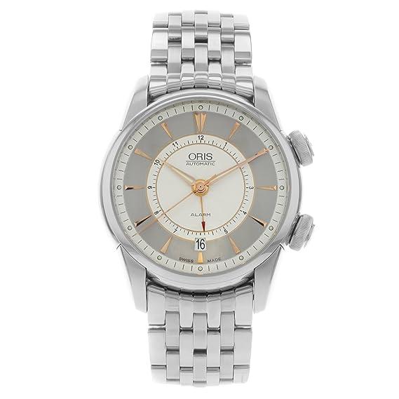 Alarma de Oris Artelier 01 908 7607 4051-Set-MB automático de acero inoxidable reloj de pulsera para hombre: Amazon.es: Relojes