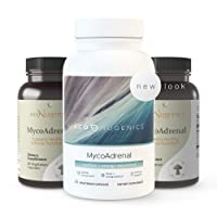 EcoNugenics MycoAdrenal Mushroom Supplement for Healthy Adrenal Support - Reishi, Cordyceps, Turkey Tail, Maitake, Shitake and Beta Glucans - Fatigue and Stress Relief, Immune System Booster (60 Caps)