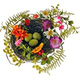 Wildflower Song Bird Nest with 3 Eggs Decorative, 6.5 Inches
