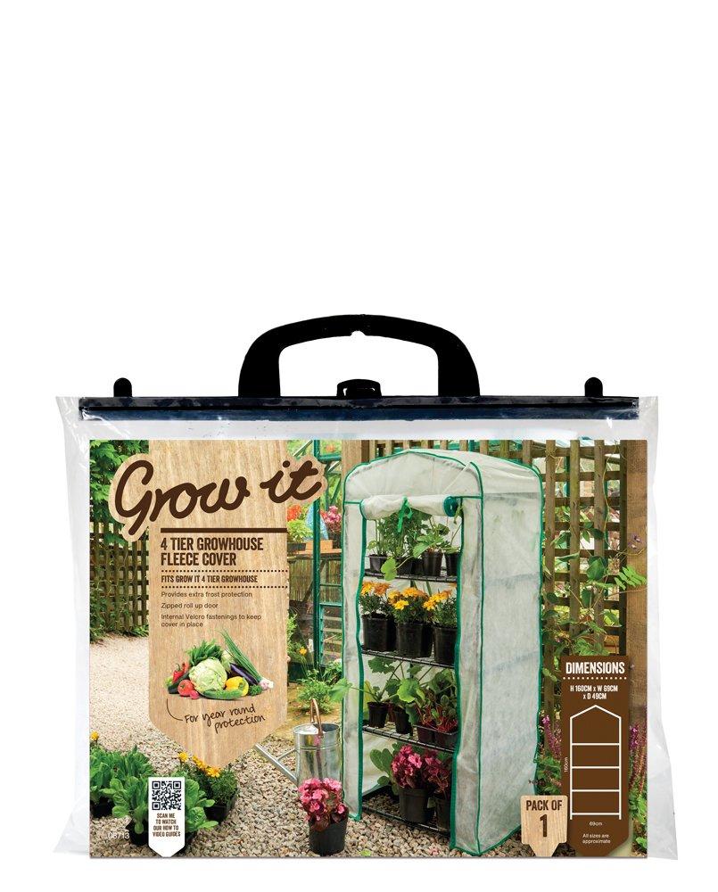Gardman 4 Tier Mini Greenhouse Fleece Cover (69cm W x 49cm D x 159cm tall) 08713 Gardening & Plants Other Gardening & Plants