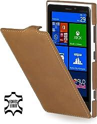 StilGut Ultraslim, housse exclusive de cuir véritable pour le Nokia Lumia 920, old style marron